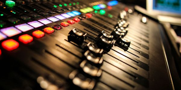 Mixing Board in a studio