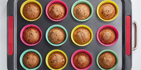 Pan of muffins