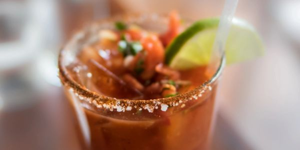 Bloody Mary, Sunday Funday, bike trail, bars on bike trails, breakfast, brunch, patio,