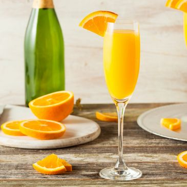 Stock picture of a mimosa with oranges