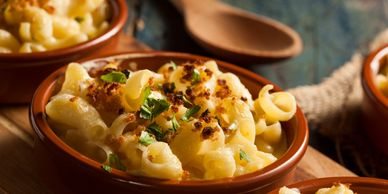 Mac n cheese gruyere side dish main dish comfort food macaroni and cheese allergen free dairy free