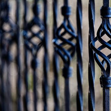 CUSTOM WROUGHT IRON WELDED  FENCE, GATES, HANDRAILS