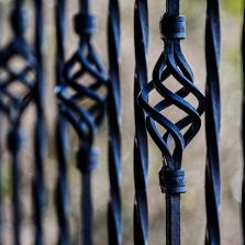 decorative black metal fence and railing spindle