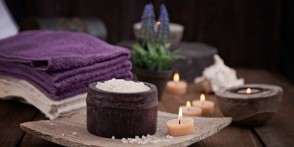 Spa salt with lavender