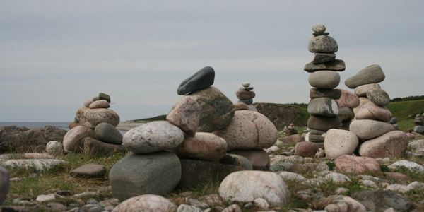 Stones stacked indicating a sacred space
