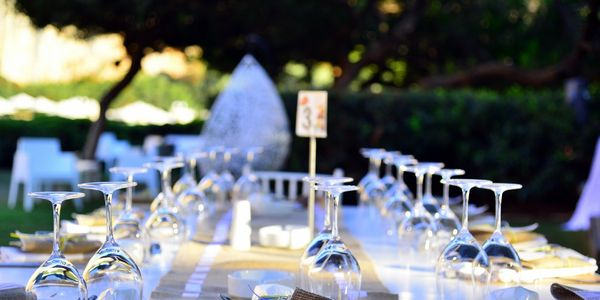 Table Set for an event lunch outside