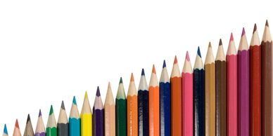 Many colored pencils in a line. This symbolizes our ability to provide multiple credit options.