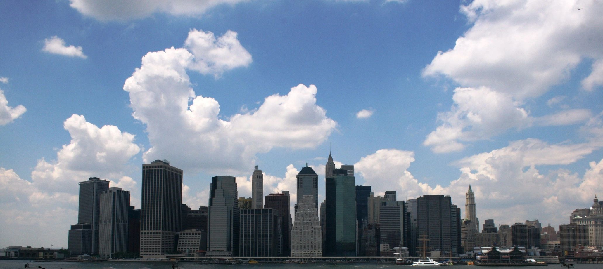 A skyline featuring skyscrapers and buildings.