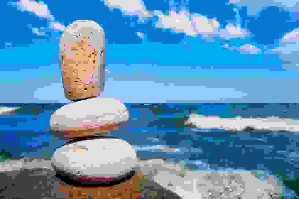 zen rocks by ocean grazing gratitude gestalt cassandra johnson coaching rock sculpture