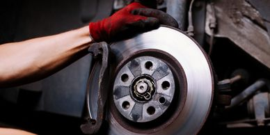 car in need of brake job, brake service, brake work and maintenance of braking system in Danville