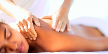 Massage  therapy services.