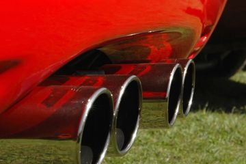 Custom exhaust tip.