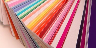 A selection of colourful matboards