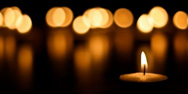 Candles flickering with bokeh background.