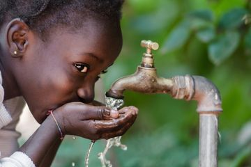 Charitable offering clean water to less fortunate families in Benin, Edo, Nigeria