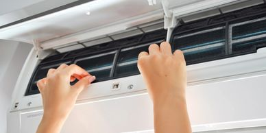 Air conditioning ductless repair, service sale, installation