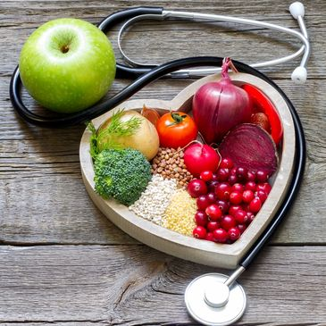 Superfoods in the shape of a heart Apple a day keeps the doctor away