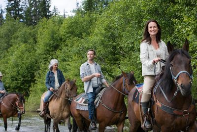 Guided trail rides at Lake Louisa State Park.