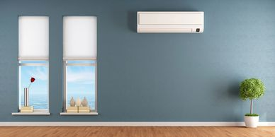 A Ductless Heating And Cooling Unit Installed