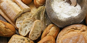 variety of bread on display