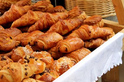 croissants, chocolate croissants, viennoiseries, catering, French bakery food