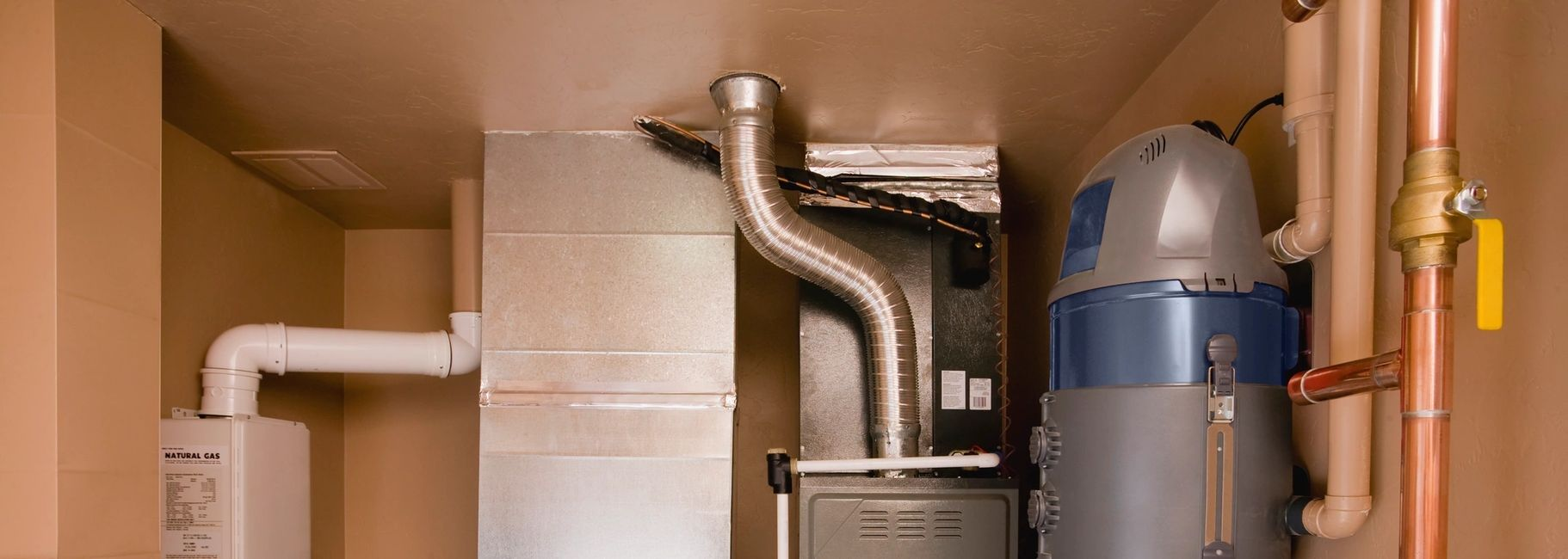 New furnace and tankless water heater installation