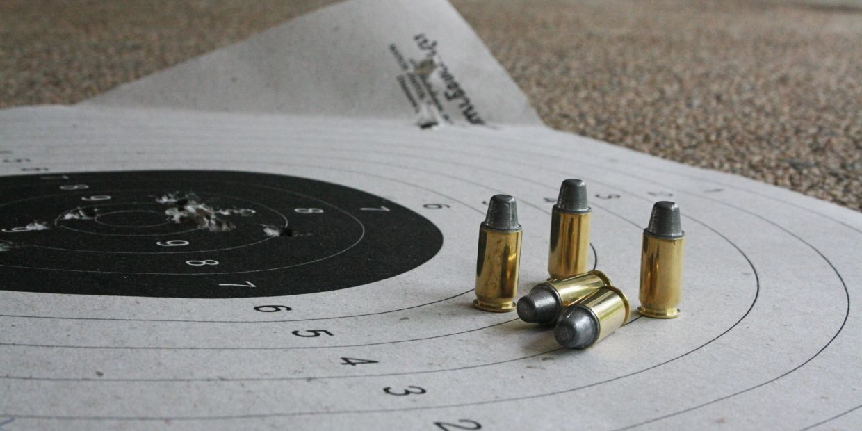 bullets and target