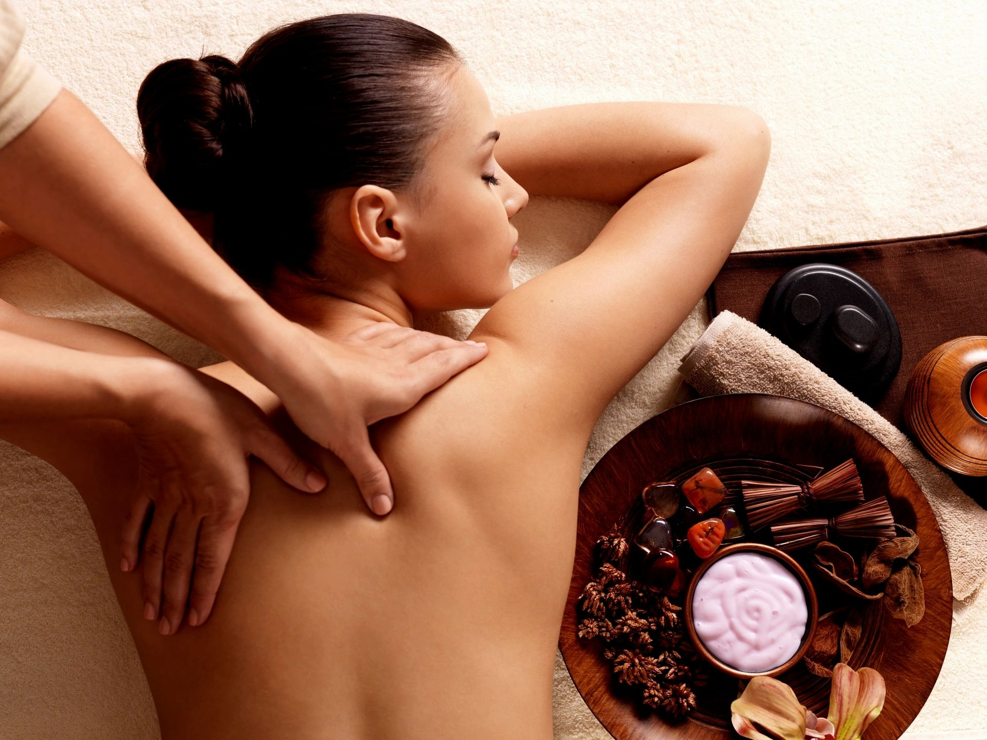 Thai massage is a traditional healing practice of acupressure  and Indian Ayurvedic principles.