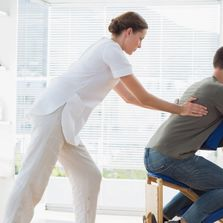 Chair massage, therapy, personalized service