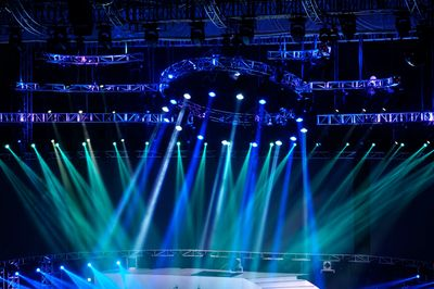 Stage at a large scale event such as the ones Banded Moon provides audio supervision / tech support.