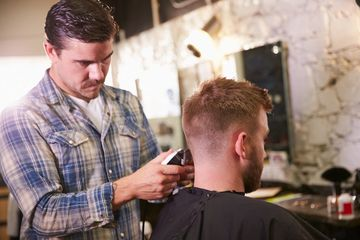 barber shop, shave, hot shave, straight shave, fade, beard trim, shampoo and dying.