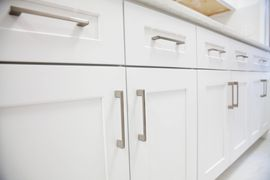 Kitchen cabinets;  bathroom cabinets