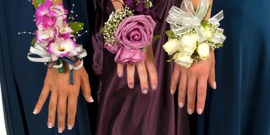 Girls with corsages
