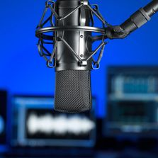In home voiceover studio, professional voiceover