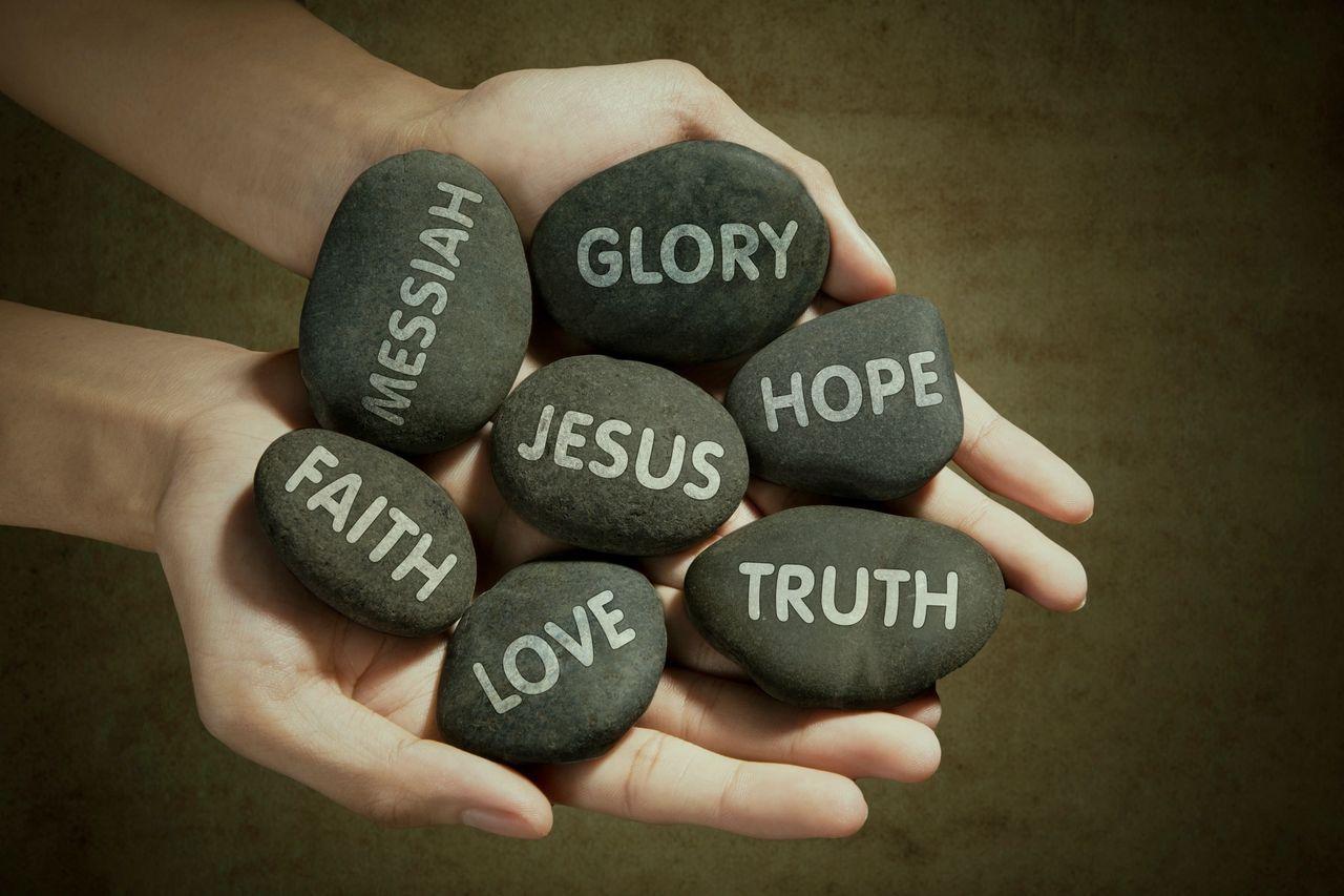 LOVE, FAITH,JESUS,HOPE,TRTH,GLORY