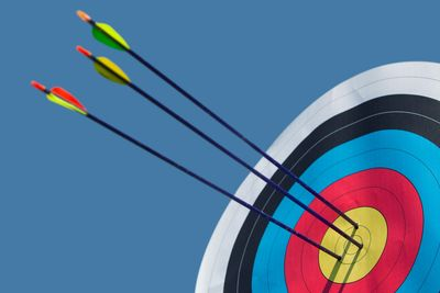 Excellent Archery Arrow Grouping