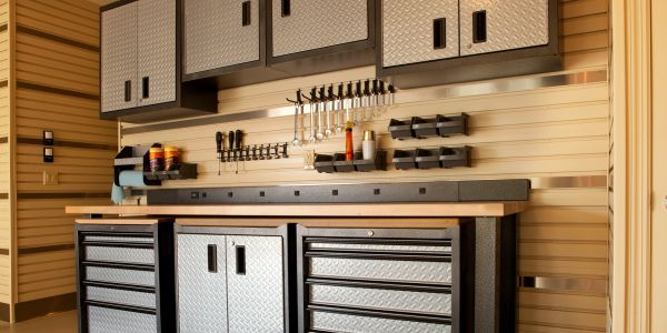 Organized and clean garage with easy to find tools