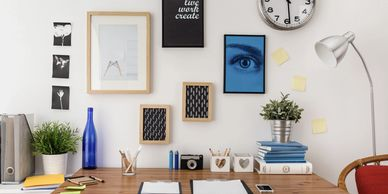 A bright office space