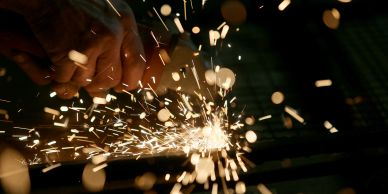 oxyacetylene welding with sparks