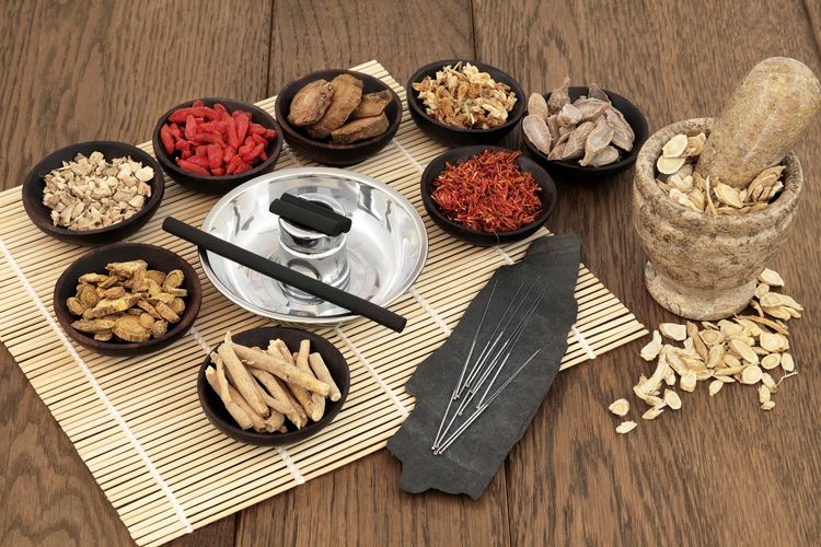 Traditional herbal medicine and acupuncture