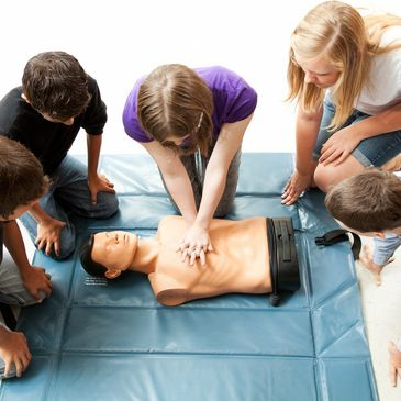 Red Cross CPR training Girl Scouts
