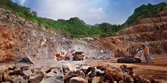 Mine waste and waste rock dumps can produce acid, saline and metalliferous drainage.