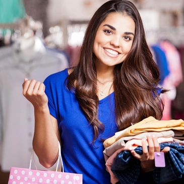 Make money on the spot selling us your women's gently used clothing and accessories.