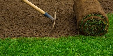 Turf new lawn Gardeners Chesterfield Derbyshire Landscape Gardeners Paramount Landscaping