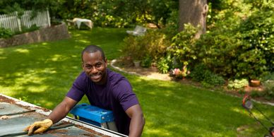 Washington DC roofing replacement and gutter cleaning services.