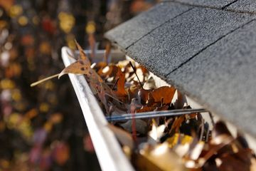 A Gutter Full of Leaves, Gutter Cleaning Service, Clear as Day Window Cleaning LLC,