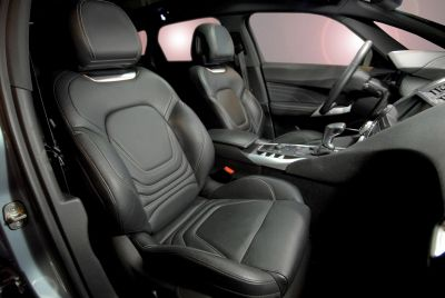 Black automobile seats.