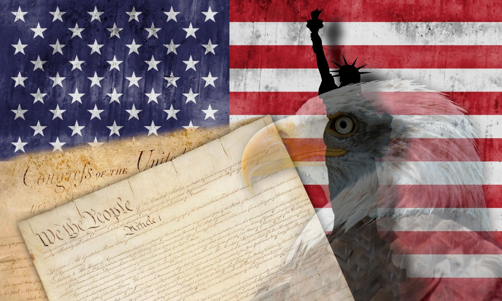 Patriotic  Images : Flag, Constitution, Eagle, Statue of Liberty   Republican Conservative, Values