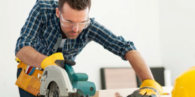 Circular Saw, Construction, DIY, Building, Lumber, Safety Tools, Safety Glasses, Gloves, Builder, Tools