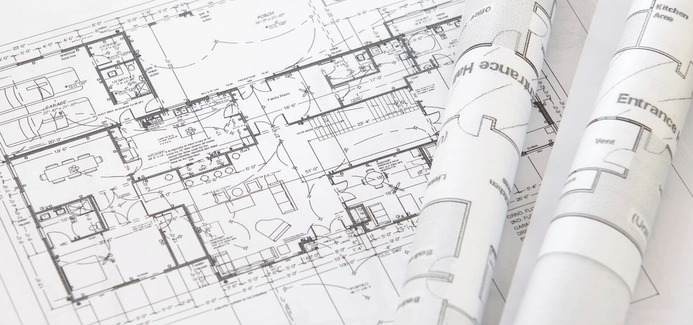 The blueprints of a home remodel design in Chattanooga, TN